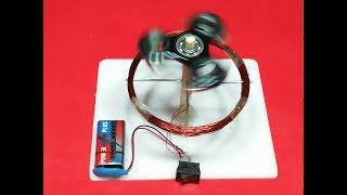 How To Make High Power Motor With Fidget Spinner Magnet Battery And Copper Wire DIY Project Exhibiti