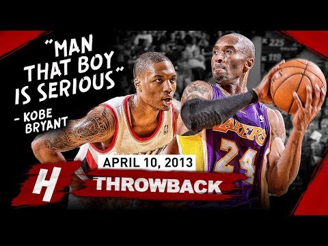 The Game Rookie Damian Lillard SHOCKED Kobe Bryant 2013.04.10 EPIC Duel Highlights