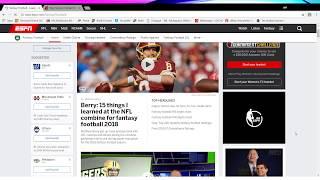 How to set up an Espn fantasy football league