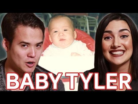 Reacting To My Boyfriend s Baby Photos • Saf & Tyler