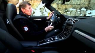 Walter Röhrl mit Porsche Boxster S (981) auf den Spuren der Rallye Monte-Carlo