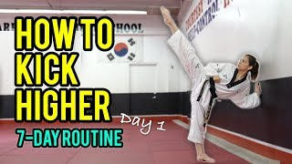 How to Kick Higher: Stretches & Drills (Day 1 Routine)