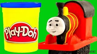 James Thomas & Friends Stop Motion - Play Doh claymation - plastilina for kids