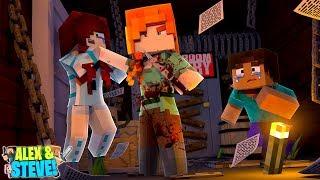 CRAZY ALEX ATTACKS STEVE'S GIRLFRIEND!! Minecraft LIFE of ALEX & STEVE