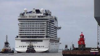 Wenden im Emder Hafen Emsüberführung Norwegian Bliss Norwegian Cruise Line Meyer Werft Kreuzfahrt