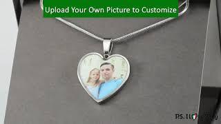 Custom Photo Silver Heart Necklace