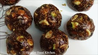 Date and Nut Ladoo Recipe - Dry Fruits Laddu Recipe - Date Nut Laddoo Recipe-Khajur Burfi Recipe