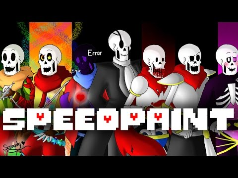 SpeedPaint! Alternative Universe Papyrus!! (Undertale AU's) Part 2
