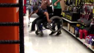 VIRAL Walmart wheelchair Tipping with The BR Brothers