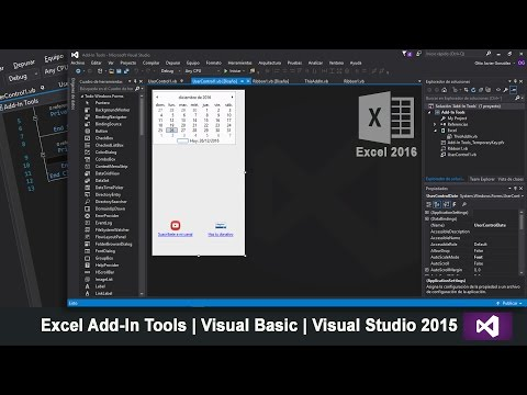 Excel Add-In Tools | Visual Basic | Visual Studio 2015