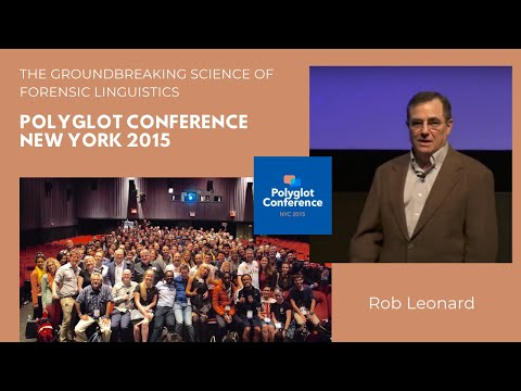 Dr. Rob Leonard The Groundbreaking Science of Forensic Linguistics