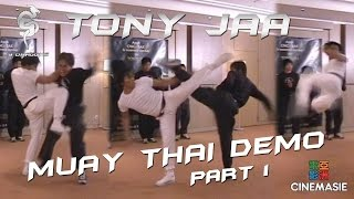 Tony Jaa Muay Thai Demo (Part 1) [Paris - 2005]