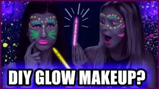 DIY BLACKLIGHT MAKEUP with Colored Pencils?! - Makeup Mythbusters w/ Maybaby & Jordyn Jones