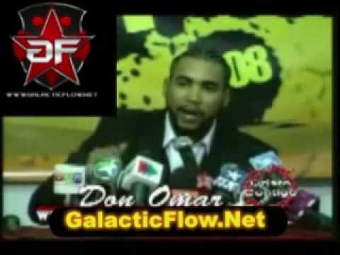 Don Omar dando un mensaje de prensa SORPRENDENTE GalacticFlowPR.Net