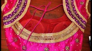 Simple Blouse cutting & sewing in hindi part1 DIY सरल ब्लाउज काटने  fashiondesignerkavita#1