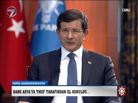 BAŞBAKAN DAVUTOĞLU 'BANK ASYA' HAKKINDA BAKIN NE DEDİ