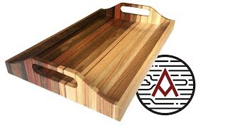 Sunset Serving Tray from Scrap Wood -- Woodworking