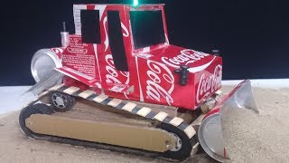 How to make a Bulldozer - DIY Amazing Coca Cola Bulldozer Toys at home