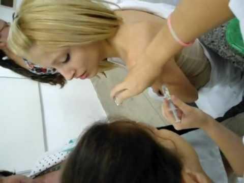 injeção intramuscular na Laylla