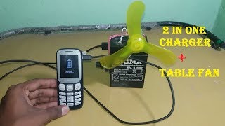 How to make table fan and portable USB charger