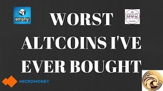 Worst Altcoins I Have Ever Bought
