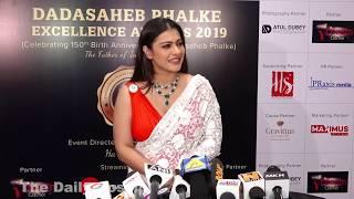 Kajol Devagan In Open Dress At Dada Saheb Phalke Award 2019