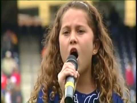 10 Year Old With AMAZING VOICE Sings During a 2011 Major League Baseball Game