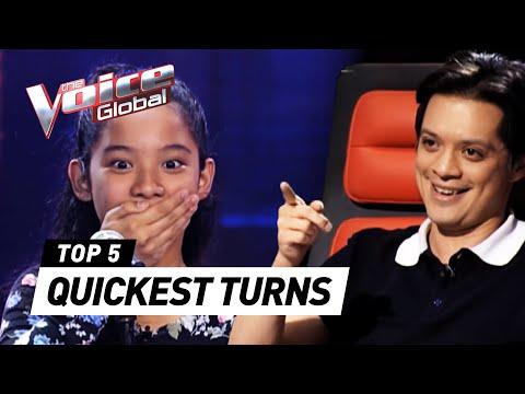 The Voice Kids | QUICKEST COACH TURNS