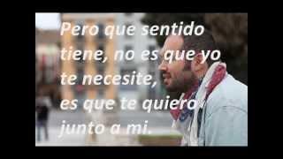 No te necesito - Santiago Cruz (Letra-Lyrics)