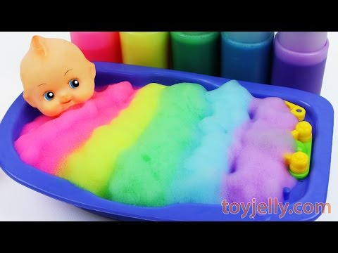 Xxx Mp4 Learn Colors Baby Doll Body Paint Color Foam Bubble Bath Time Kinetic Sand Suprise Ice Cream Cups 3gp Sex