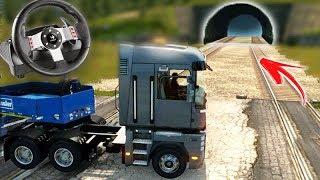 ACIDENTE na LINHA DO TREM!!! - Euro Truck Simulator 2 + G27