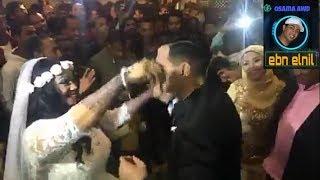 رقص حنين وعريسها من حفل زفاف الفنانة حنين فرح حنين 15-2-2018  الجزء الثالث
