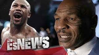 Mike Tyson Swings At Floyd Mayweather & Floyd Doesn't Even Flinch - EsNews Boxing