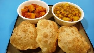 Puri or Luchi | Indian Puffed Bread | Indian Cuisine
