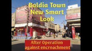 Operation against encroachment in Baldia Town(saeedabad) Tajawzat ki khilaf operation