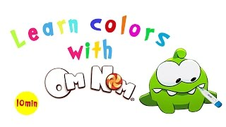 The Colouring Book! - Learning colours with Om Nom - Compilation 3 - English for kids