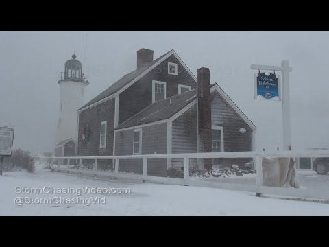 Scituate, MA Extreme Blizzard Conditions - 1/7/2017