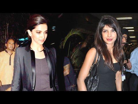 Deepika Padukone & Priyanka Chopra Fly For Usa Spotted on New Year Eve- HD