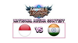 INDONESIA VS INDIA ARENA CONTEST MOBILE LEGENDS !