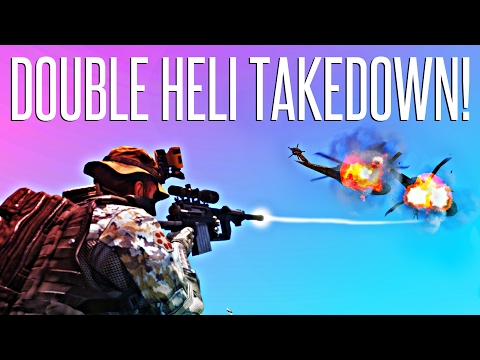 DOUBLE HELI TAKEDOWN! - ArmA 3 King Of The Hill