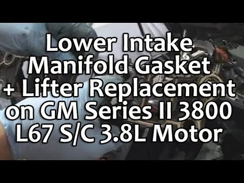 Lower Intake Manifold LIM Gasket Lifter Replacement on GM 3800 L67 3.8L