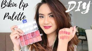DIY Lip Palette Murah Meriah - Bikin Palet Lipstick Sendiri dari Lipstick Favorit
