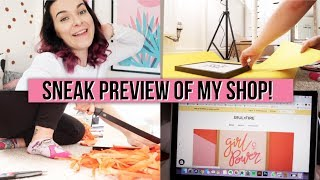 FINAL PRINT DESIGNS & A SNEAKY PEEK | Studio Vlog