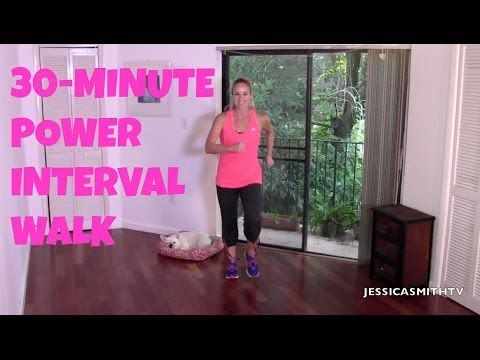 Walking Exercise for Beginners Free Full Length 30 Minute Power Interval Walk