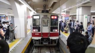 東武6050系56レ区間快速最終列車 浅草到着・折返し回送発車