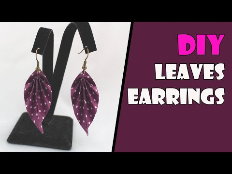 DIY: Origami Earrings Leaves (Origami Jewelry) Instructions
