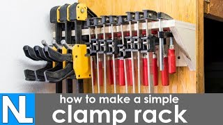 Making a clamp rack - simple DIY woodworking