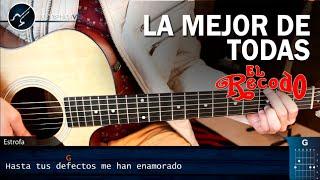 Como tocar La Mejor De Todas en Guitarra   Banda el Recodo Tutorial Acordes Christianvib
