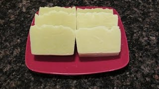 How To Make Soap Using Olive Oil, Coconut Oil and Lye