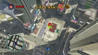 LEGO Marvel Super Heroes - Times Square Area 100% (All Collectibles - Gold Bricks/Tokens/Missions)
